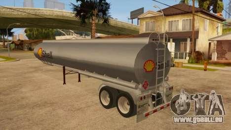 Citerne semi-remorque pour GTA San Andreas sur la vue arrière gauche