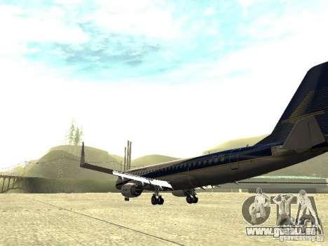 Embraer E-190 für GTA San Andreas zurück linke Ansicht