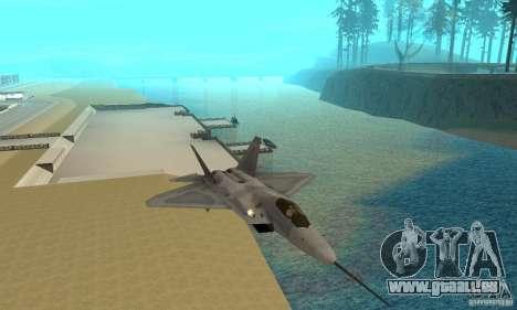 YF-22 Grey pour GTA San Andreas vue arrière
