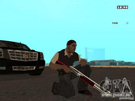 White Red Gun pour GTA San Andreas troisième écran