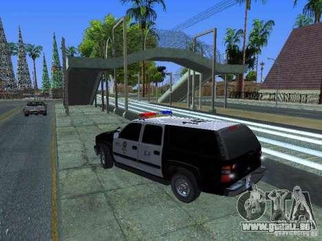 Chevrolet Suburban Los Angeles Police pour GTA San Andreas laissé vue