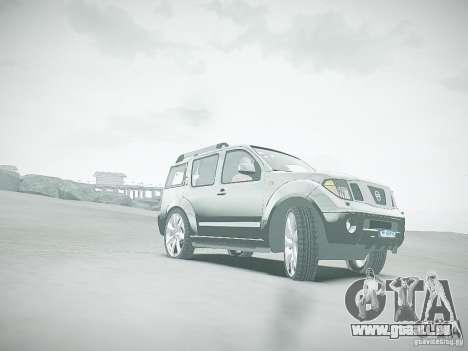 Nissan Pathfinder 2010 pour GTA 4 vue de dessus