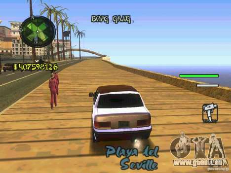 HUD Convenient and easy BETA für GTA San Andreas dritten Screenshot