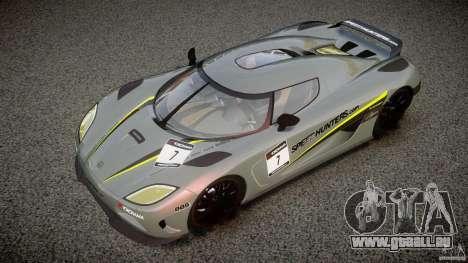 Koenigsegg Agera v1.0 [EPM] pour GTA 4 Salon
