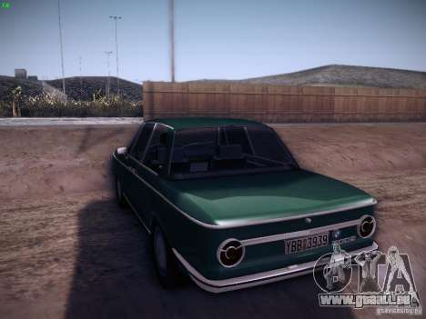 BMW 2002 1972 pour GTA San Andreas sur la vue arrière gauche