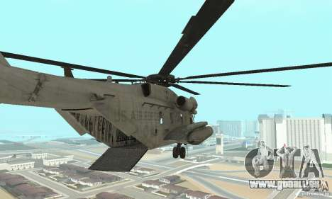 Sikorsky MH-53 für GTA San Andreas zurück linke Ansicht