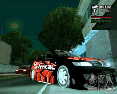 Mitsubishi Lancer E.S pour GTA San Andreas sur la vue arrière gauche