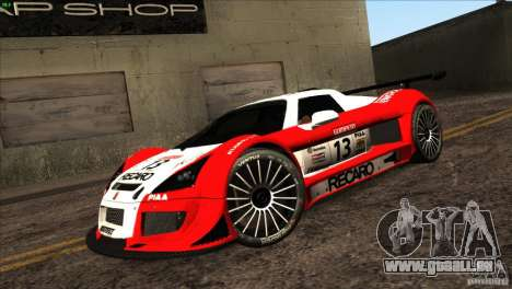 Gumpert Apollo für GTA San Andreas Innen