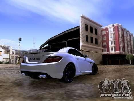 Mercedes-Benz SLK55 AMG 2012 für GTA San Andreas rechten Ansicht