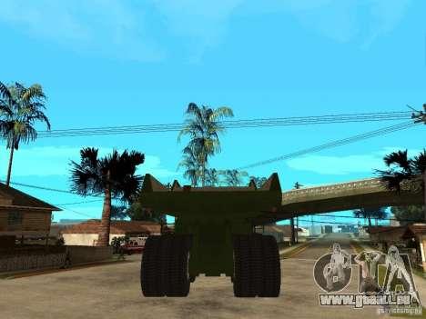Belaz pour GTA San Andreas sur la vue arrière gauche