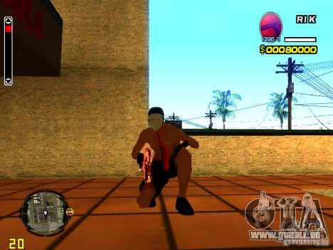 Homme peau plage pour GTA San Andreas cinquième écran