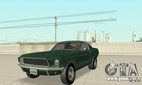 Ford Mustang Bullitt 1968 v.2 für GTA San Andreas