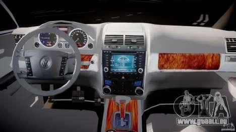 Volkswagen Touareg 2008 TDI für GTA 4 Rückansicht
