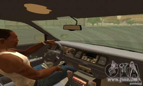 Ford Crown Victoria Tennessee Police für GTA San Andreas zurück linke Ansicht