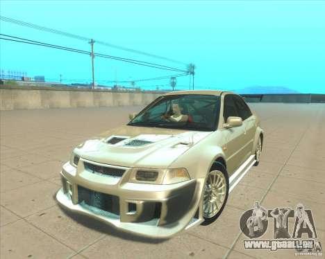 Mitsubishi Lancer Evolution VI 1999 Tunable pour GTA San Andreas vue intérieure