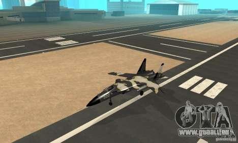 Su-47 « berkut » Cammo pour GTA San Andreas sur la vue arrière gauche