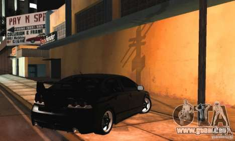 Honda Civic JDM pour GTA San Andreas vue intérieure