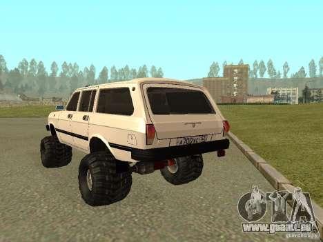 31022 Volga gaz 4 x 4 pour GTA San Andreas vue de droite
