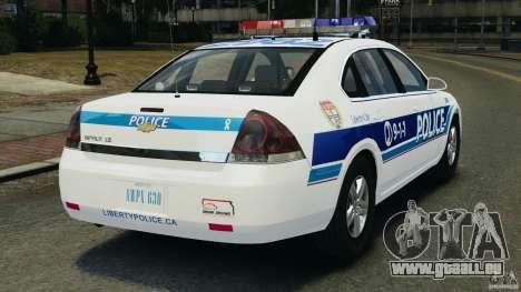 Chevrolet Impala 2012 LCPD für GTA 4 hinten links Ansicht