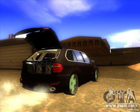 BMW X5 dubstore pour GTA San Andreas vue intérieure