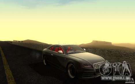 Audi S5 Black Edition für GTA San Andreas Seitenansicht