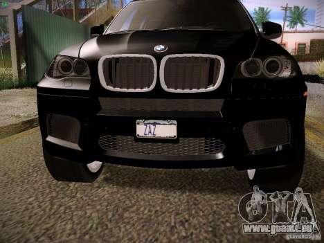 BMW X5M 2011 pour GTA San Andreas sur la vue arrière gauche