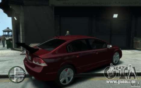 Honda Civic 2006 pour GTA 4 est un droit