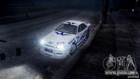 Nissan Skyline R-34 v1.0 für GTA 4 Seitenansicht