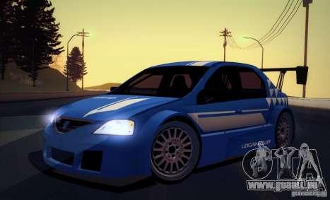Dacia Logan Trophy Edition 2005 für GTA San Andreas zurück linke Ansicht