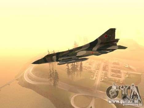 Mikojan-Gurewitsch Mig-23 für GTA San Andreas zurück linke Ansicht