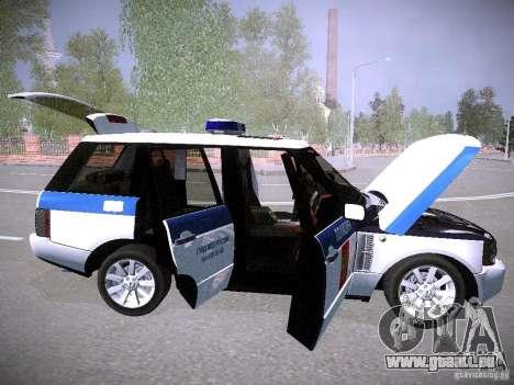 Range Rover Supercharged 2008 Police DEPARTMENT für GTA San Andreas Unteransicht