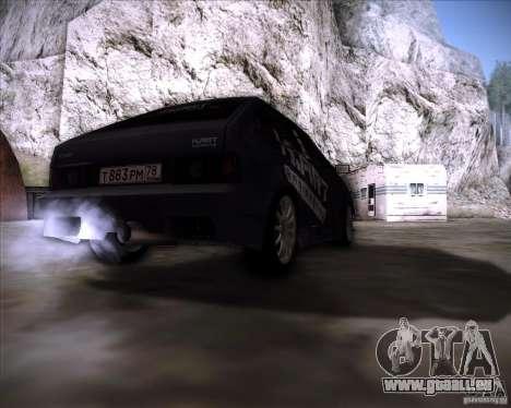 VAZ 2108 K-Art für GTA San Andreas zurück linke Ansicht