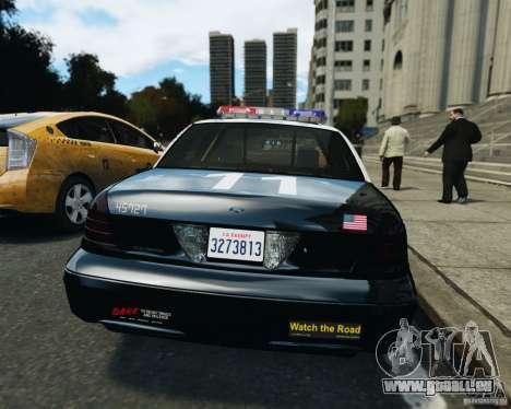 Ford Crown Victoria LAPD pour GTA 4 est une vue de l'intérieur