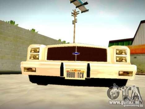 Chevrolet El Camino 1976 pour GTA San Andreas vue arrière