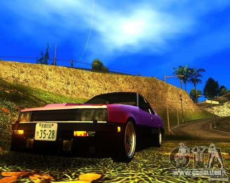 Nissan Skyline RS TURBO (R30) pour GTA San Andreas sur la vue arrière gauche
