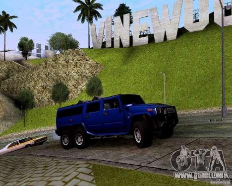 Hummer H6 für GTA San Andreas Rückansicht