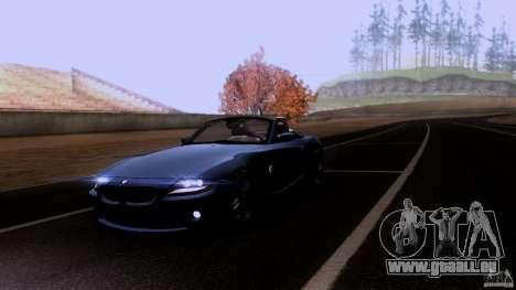 BMW Z4 V10 pour GTA San Andreas vue de dessus