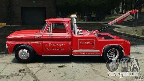 Chevrolet C20 Towtruck 1966 für GTA 4 linke Ansicht