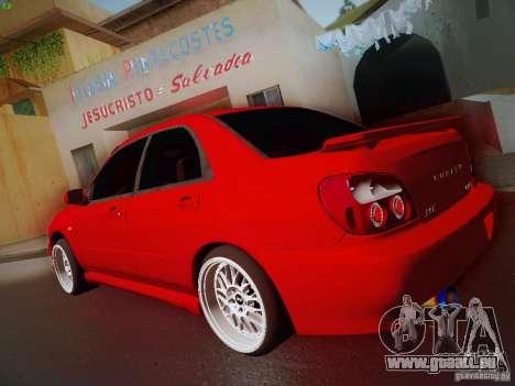 Subaru Impreza WRX STI für GTA San Andreas Rückansicht