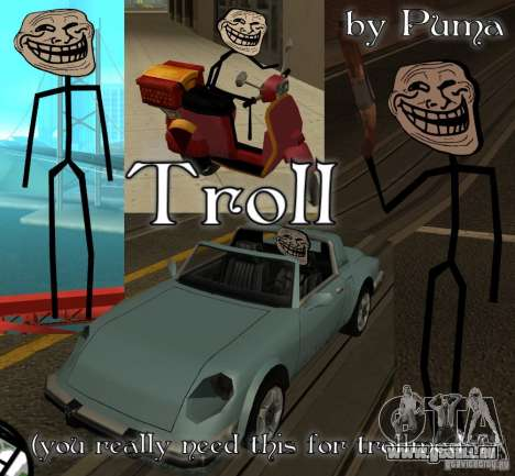 TrollFace skin pour GTA San Andreas