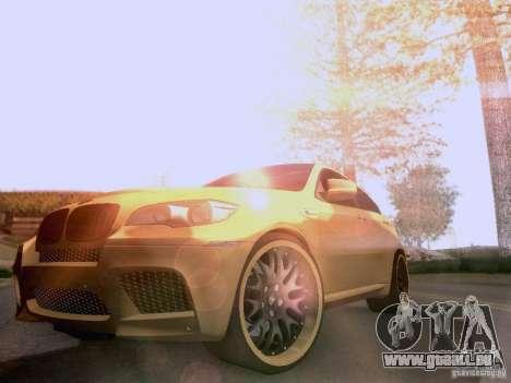 BMW X6M Hamann für GTA San Andreas Motor