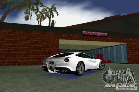 Ferrari F12 Berlinetta pour GTA Vice City sur la vue arrière gauche