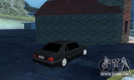 Mercedes-Benz W140 S600 Long Deputat Style pour GTA San Andreas vue de droite