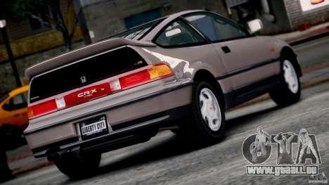 Honda CR-X SiR 1991 pour GTA 4 est une gauche
