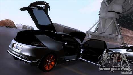 Honda CR-Z Mugen 2011 V1.0 pour GTA San Andreas vue de dessous