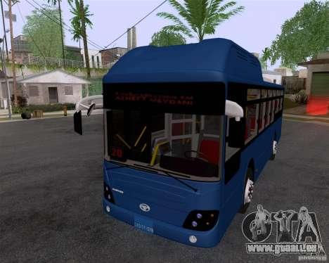 Daewoo Bus BAKU pour GTA San Andreas sur la vue arrière gauche