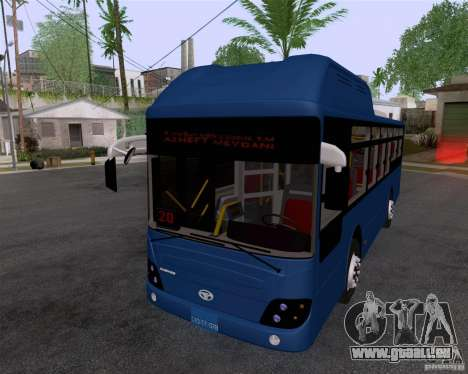 Daewoo Bus BAKU für GTA San Andreas zurück linke Ansicht