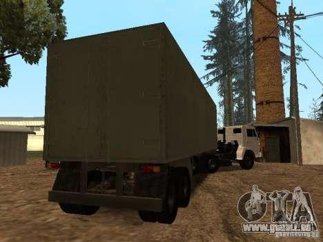 Trailer für Kamaz 5410 für GTA San Andreas rechten Ansicht