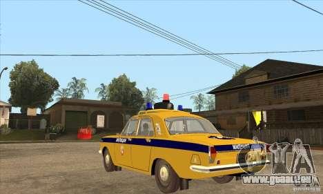 GAZ Volga 2401 Police pour GTA San Andreas sur la vue arrière gauche