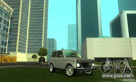 VAZ 21213 NIVA FBI für GTA San Andreas Rückansicht